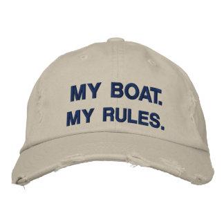 Mi barco Mis reglas - canotaje divertido Gorra De Beisbol Bordada