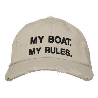 Mi barco. Mis reglas - canotaje divertido Gorras De Béisbol Bordadas