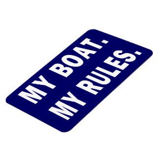 Mi barco. Mis reglas - canotaje divertido Imanes