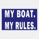 Mi barco. Mis reglas - canotaje divertido Rectangular Altavoz