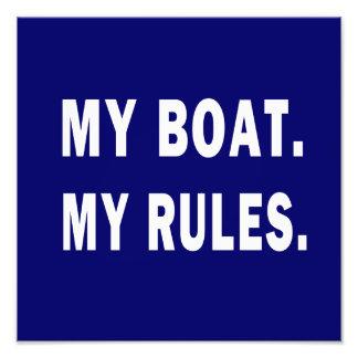 Mi barco. Mis reglas - canotaje divertido Arte Con Fotos