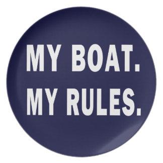 Mi barco. Mis reglas - canotaje divertido Plato De Comida