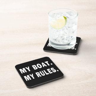 Mi barco. Mis reglas - canotaje divertido Posavasos De Bebidas
