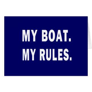 Mi barco. Mis reglas - canotaje divertido Tarjeta Pequeña