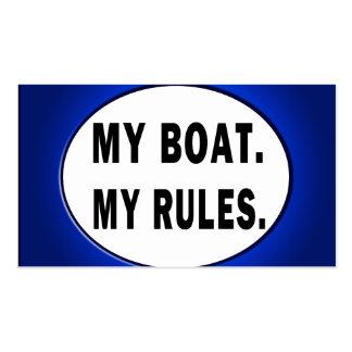Mi barco. Mis reglas - canotaje divertido Tarjetas Personales