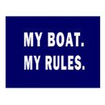 Mi barco. Mis reglas - canotaje divertido Tarjeta Postal