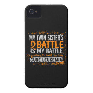 Mi batalla hermana gemela de demasiado 2 leucemias Case-Mate iPhone 4 cárcasas