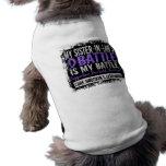 Mi batalla linfoma de Hodgkins de demasiado 2 cuña Camisetas De Perro