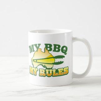 MI Bbq MI diseño australiano de las REGLAS Taza De Café