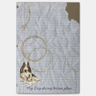 Mi beagle comió mi plan de lección notas post-it®
