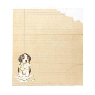 Mi beagle comió mi preparación libreta para notas