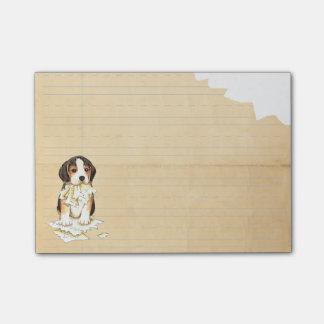 Mi beagle comió mi preparación notas post-it®