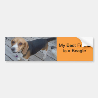 mi beagle es mi mejor amigo II Pegatina Para Auto