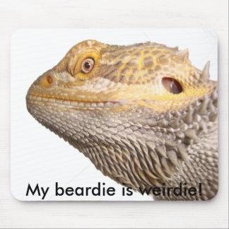 ¡Mi beardie es weirdie! cojín de ratón Tapete De Ratón