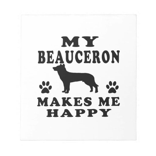 Mi Beauceron me hace feliz Blocs De Papel