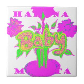 Mi bebé Hakuna Matata Azulejo Cuadrado Pequeño