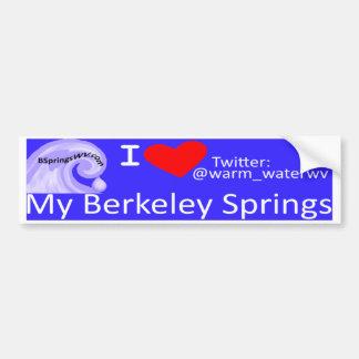 Mi Berkeley Springs Pegatina Para Auto