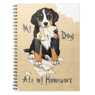 Mi Berner comió mi preparación Cuaderno