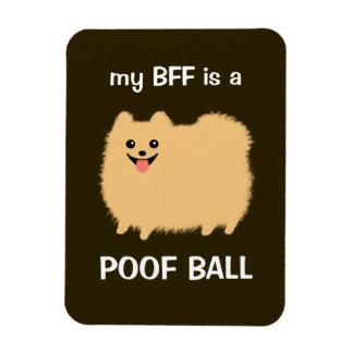 mi BFF es una BOLA del POOF - perro divertido de P Iman De Vinilo