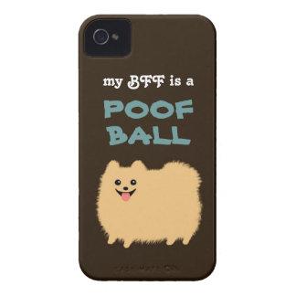 Mi BFF es una BOLA del POOF - perro lindo de iPhone 4 Case-Mate Coberturas