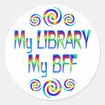 Mi biblioteca BFF Pegatinas