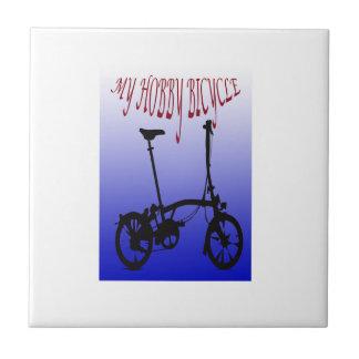 Mi bicicleta de la afición azulejo cuadrado pequeño