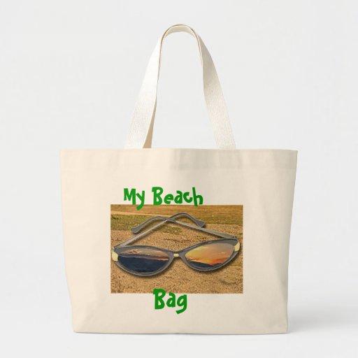 Mi bolso de la playa, en un tote bolsa de mano