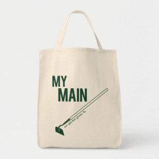 Mi bolso de ultramarinos orgánico de la azada bolsa tela para la compra