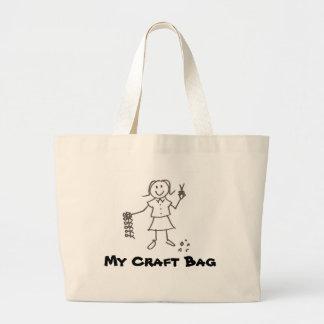Mi bolso del arte bolsa tela grande