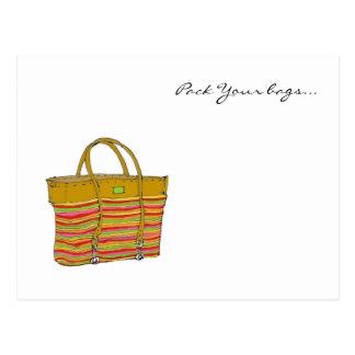mi bolso, embala sus bolsos… postales
