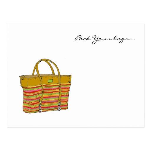 mi bolso, embala sus bolsos… tarjetas postales