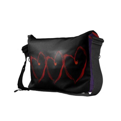 Mi bolso es amor y paz bolsa messenger