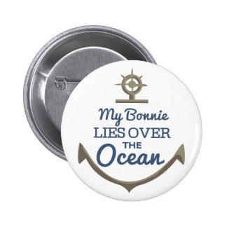 Mi Bonnie miente sobre el océano Chapa Redonda 5 Cm