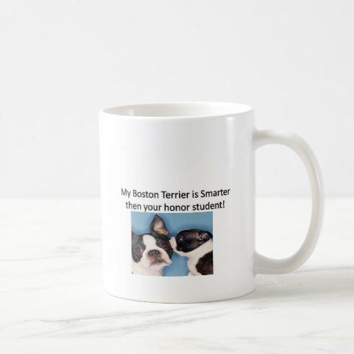 Mi Boston Terrier es más elegante entonces su hono Tazas De Café