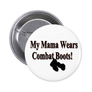 Mi botón de las botas de combate de mamá Wears