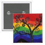 Mi botón del árbol del arco iris pins