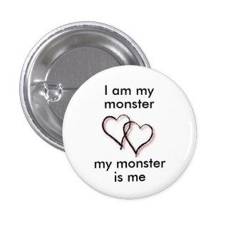 Mi botón del monstruo pin redondo de 1 pulgada
