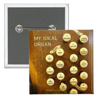 Mi botón ideal del órgano pin