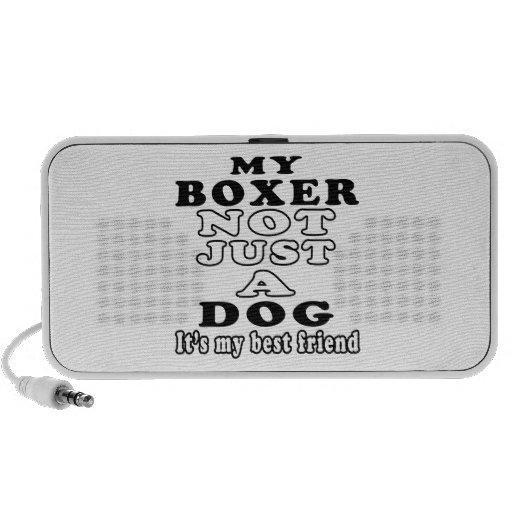 Mi boxeador no apenas un perro es mi mejor amigo altavoces de viaje