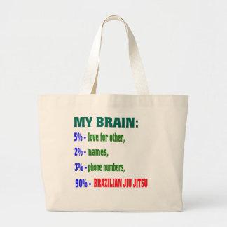 Mi brasilen@o Jiu Jitsu. del cerebro el 90% Bolsa Tela Grande