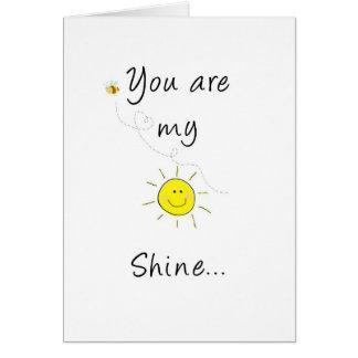 Mi brillo del sol tarjeta de felicitación