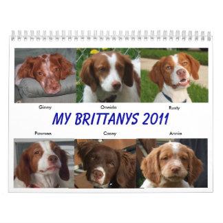 Mi Brittanys 2011 Calendarios