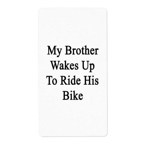 Mi Brother despierta para montar su bici Etiquetas De Envío