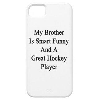 Mi Brother es divertido elegante y un gran hockey  iPhone 5 Case-Mate Fundas