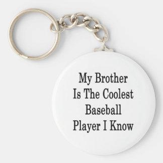 Mi Brother es el jugador de béisbol más fresco que Llavero Redondo Tipo Pin