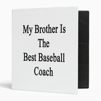 Mi Brother es el mejor entrenador de béisbol