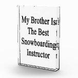 Mi Brother es el mejor instructor de la snowboard