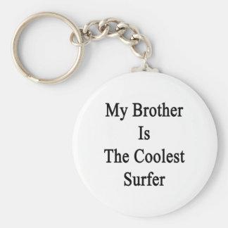 Mi Brother es la persona que practica surf más fre Llaveros Personalizados
