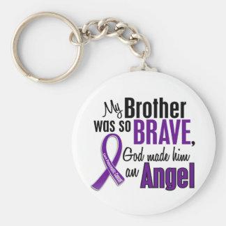 Mi Brother es un cáncer pancreático del ángel Llavero Redondo Tipo Pin