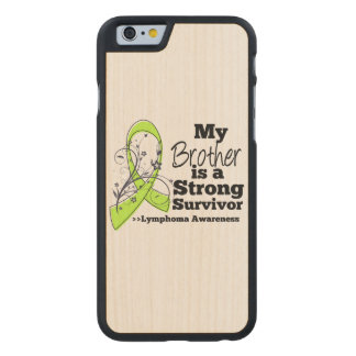 Mi Brother es un superviviente fuerte del linfoma Funda De iPhone 6 Carved® Slim De Arce